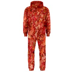 RED MAPLE LEAVES Hooded Jumpsuit (Men)  by trendistuff