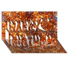Orange Leaves Happy Birthday 3d Greeting Card (8x4)  by trendistuff