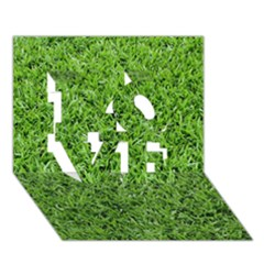 Green Grass 2 Love 3d Greeting Card (7x5)
