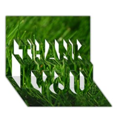 Green Grass 1 Thank You 3d Greeting Card (7x5)