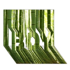 Bamboo Grove 2 Boy 3d Greeting Card (7x5)
