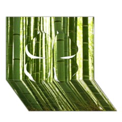 Bamboo Grove 2 Clover 3d Greeting Card (7x5)