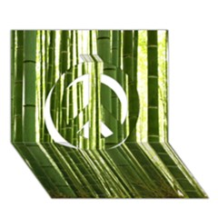 Bamboo Grove 2 Peace Sign 3d Greeting Card (7x5)  by trendistuff