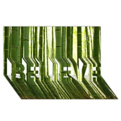 Bamboo Grove 2 Believe 3d Greeting Card (8x4)
