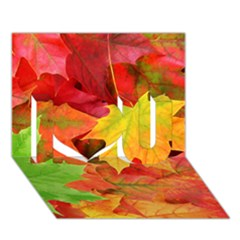 Autumn Leaves 1 I Love You 3d Greeting Card (7x5)  by trendistuff