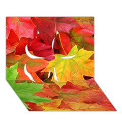 Autumn Leaves 1 Clover 3d Greeting Card (7x5)