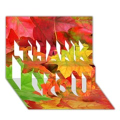 Autumn Leaves 1 Thank You 3d Greeting Card (7x5)  by trendistuff
