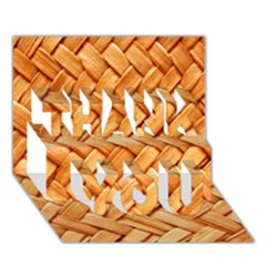 Woven Straw Thank You 3d Greeting Card (7x5)  by trendistuff