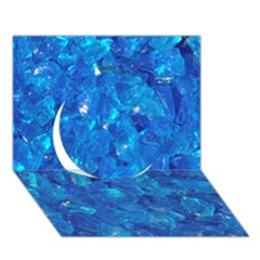 Turquoise Glass Circle 3d Greeting Card (7x5)  by trendistuff