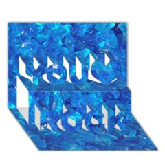 Turquoise Glass You Rock 3d Greeting Card (7x5)  by trendistuff