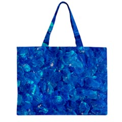 Turquoise Glass Zipper Tiny Tote Bags by trendistuff