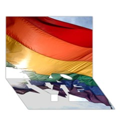 Pride Flag Love Bottom 3d Greeting Card (7x5)  by trendistuff