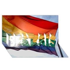 Pride Flag Best Sis 3d Greeting Card (8x4)