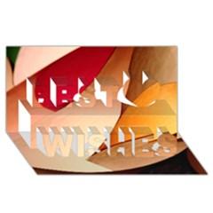 Pretty Abstract Art Best Wish 3d Greeting Card (8x4)  by trendistuff