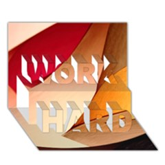 Pretty Abstract Art Work Hard 3d Greeting Card (7x5)  by trendistuff