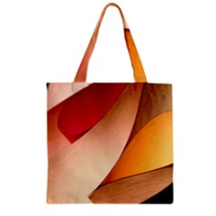 PRETTY ABSTRACT ART Zipper Grocery Tote Bags by trendistuff