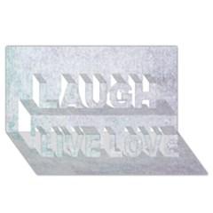 Paper Colors Laugh Live Love 3d Greeting Card (8x4)