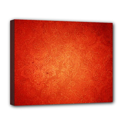 Orange Dot Art Deluxe Canvas 20  X 16   by trendistuff