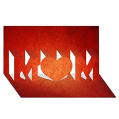 Orange Dot Art Mom 3d Greeting Card (8x4)  by trendistuff