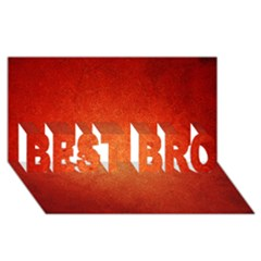 Orange Dot Art Best Bro 3d Greeting Card (8x4)