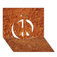 Orange Clay Dirt Peace Sign 3d Greeting Card (7x5)