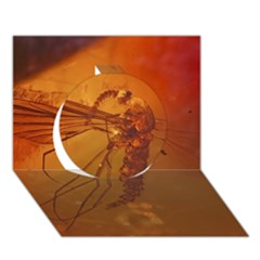 Mosquito In Amber Circle 3d Greeting Card (7x5)  by trendistuff