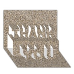 Light Beige Sand Texture Thank You 3d Greeting Card (7x5)  by trendistuff