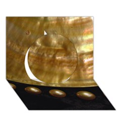 Golden Pearls Circle 3d Greeting Card (7x5)  by trendistuff