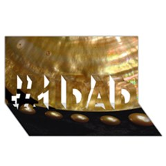 Golden Pearls #1 Dad 3d Greeting Card (8x4)  by trendistuff