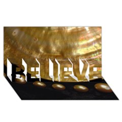 Golden Pearls Believe 3d Greeting Card (8x4)  by trendistuff