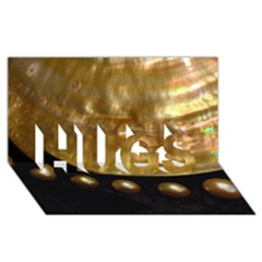 Golden Pearls Hugs 3d Greeting Card (8x4)  by trendistuff