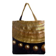 Golden Pearls Grocery Tote Bags by trendistuff