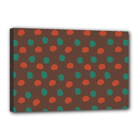 Distorted Polka Dots Pattern Canvas 18  X 12  (stretched) by LalyLauraFLM