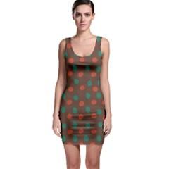 Distorted Polka Dots Pattern Bodycon Dress by LalyLauraFLM