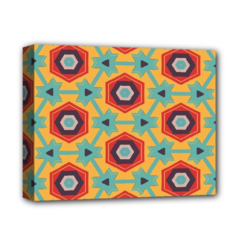 Stars And Honeycomb Pattern Deluxe Canvas 14  X 11  (stretched) by LalyLauraFLM