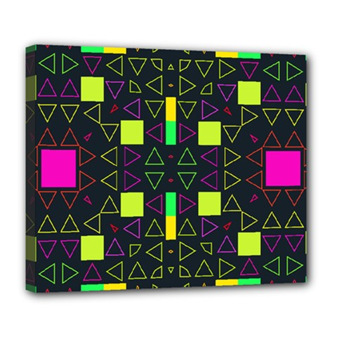 Triangles and squares Deluxe Canvas 24  x 20  (Stretched) by LalyLauraFLM