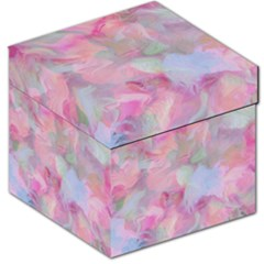 Soft Floral Pink Storage Stool 12   by MoreColorsinLife