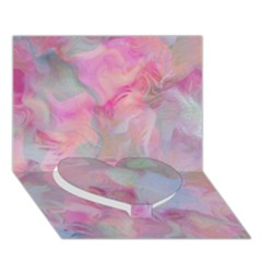Soft Floral Pink Heart Bottom 3d Greeting Card (7x5)
