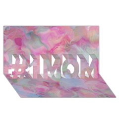 Soft Floral Pink #1 Mom 3d Greeting Cards (8x4)