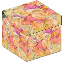 Soft Floral,roses Storage Stool 12   by MoreColorsinLife