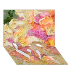 Soft Floral,roses Love Bottom 3d Greeting Card (7x5)