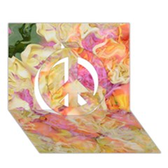 Soft Floral,roses Peace Sign 3d Greeting Card (7x5)