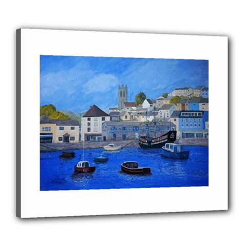 Golden Hind Brixham Uk Canvas 24  X 20  by JDDesigns