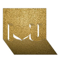 Gold Plastic I Love You 3d Greeting Card (7x5)