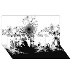 FRACTAL BEST BRO 3D Greeting Card (8x4)  by trendistuff