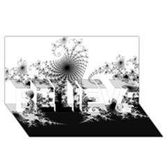 Fractal Believe 3d Greeting Card (8x4)