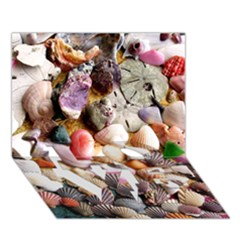 Colorful Sea Shells Love Bottom 3d Greeting Card (7x5)  by trendistuff