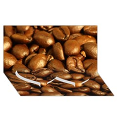 Chocolate Coffee Beans Twin Heart Bottom 3d Greeting Card (8x4)