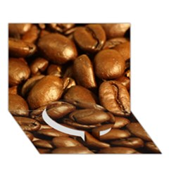 Chocolate Coffee Beans Circle Bottom 3d Greeting Card (7x5)