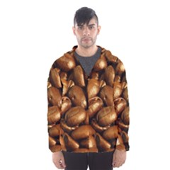 CHOCOLATE COFFEE BEANS Hooded Wind Breaker (Men) by trendistuff